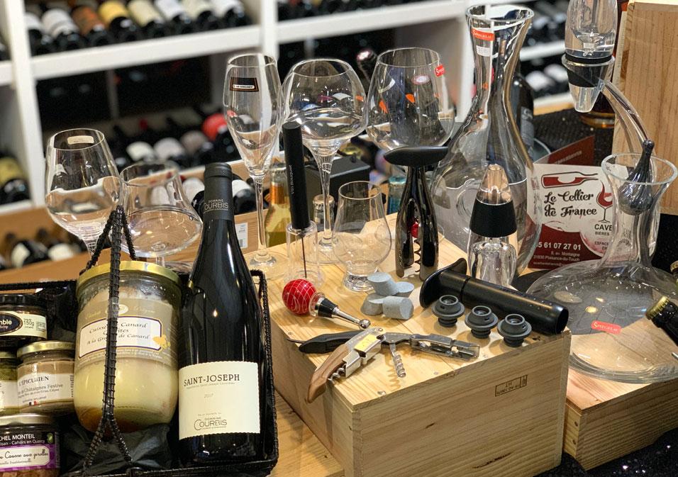de nombreux accessoires en vente au sein de la cave à vin de Plaisance du Touch (31)